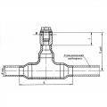 Закладная конструкция для термометра
