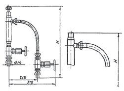Узлы обвязки дифманометров ОП-111, ОП-112