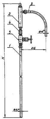 Узлы обвязки дифманометров ОП-104, ОП-105, ОП-106